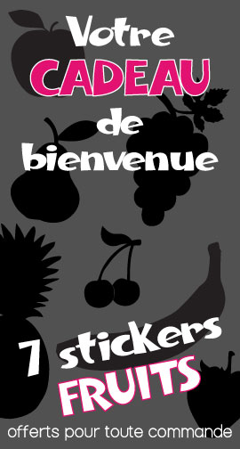 Cadeau : 7 stickers fruits offerts