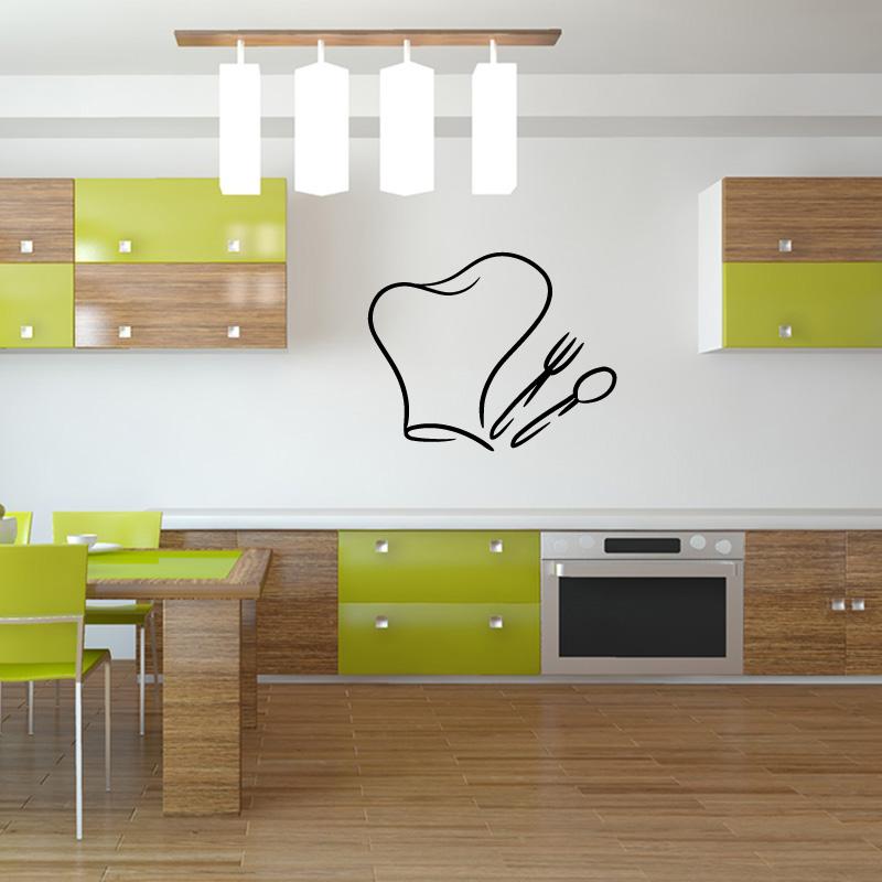 Stickers muraux cuisine et frigo for Deco utile cuisine