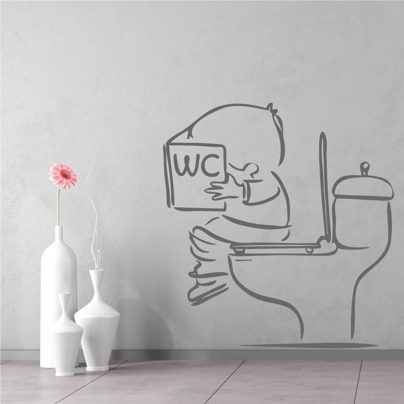 stickers muraux toilettes d corez vos wc avec humour. Black Bedroom Furniture Sets. Home Design Ideas