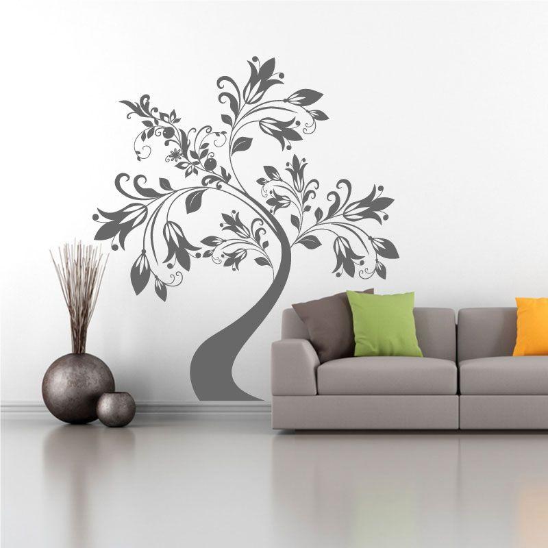 sticker mural arbre design d comotif. Black Bedroom Furniture Sets. Home Design Ideas