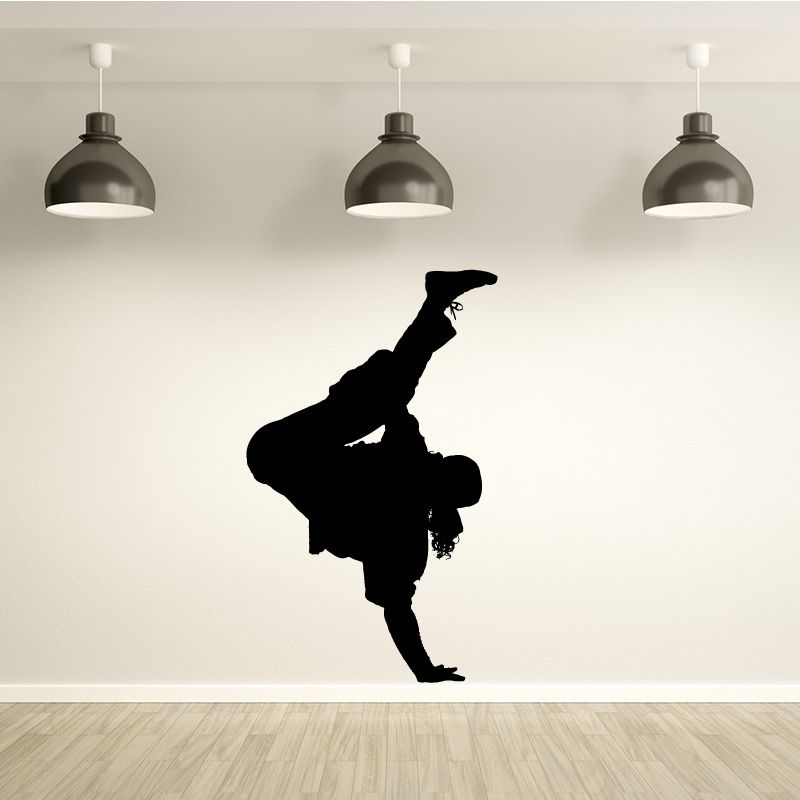 sticker mural danseur de hip