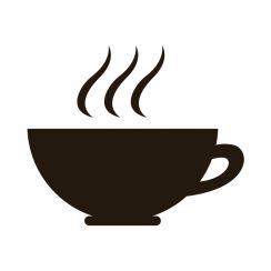 Dessin Tasse De Café Fumant sticker mural tasse de thé ou de café fumante