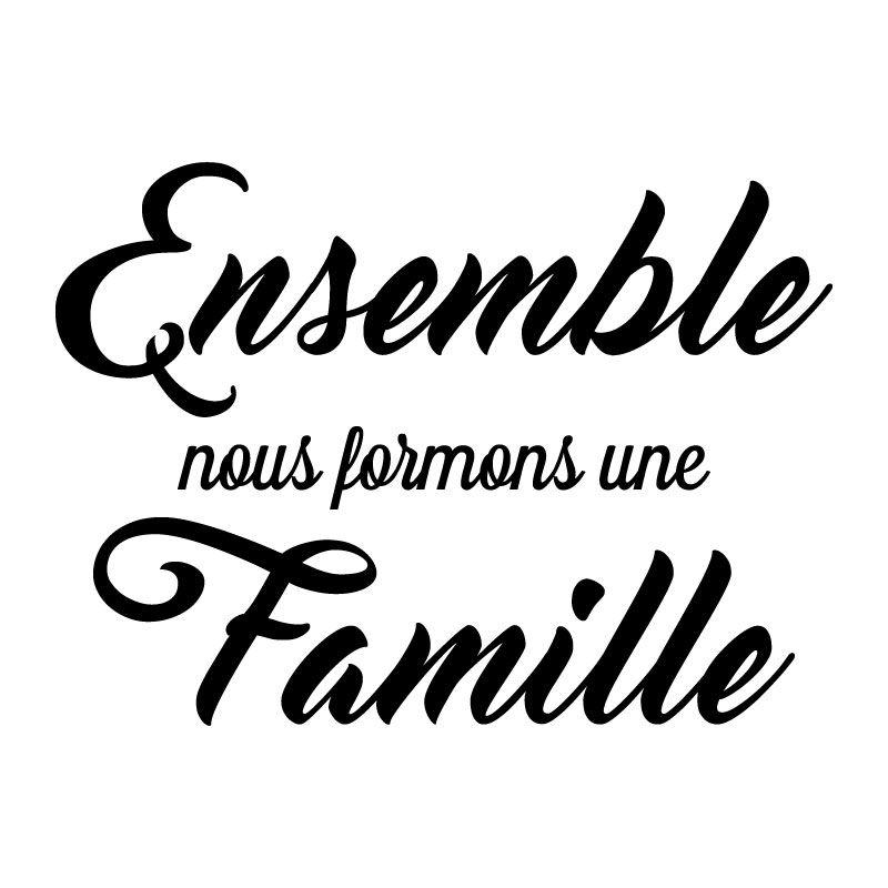 Très Sticker mural Ensemble, nous formons une famille > Décomotif DM41