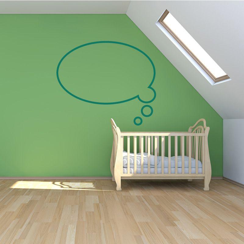sticker mural bulle bd dans les pens es. Black Bedroom Furniture Sets. Home Design Ideas