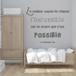 Réaliser l'impossible