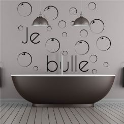 Beautiful stickers salle de bain texte photos lalawgroup - Stickers salle de bains ...