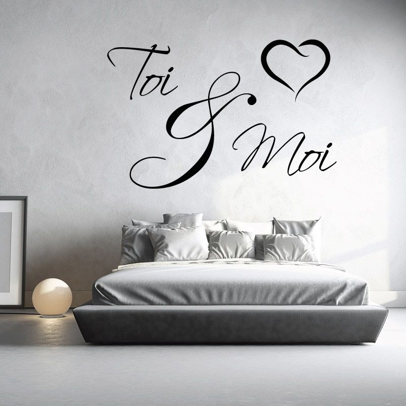 sticker mural toi et moi d comotif. Black Bedroom Furniture Sets. Home Design Ideas