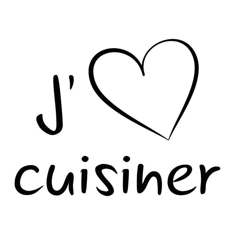 sticker mural j 39 aime cuisiner d comotif