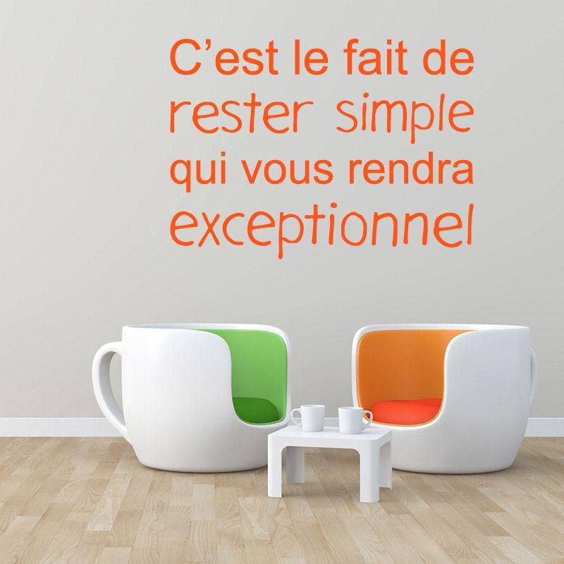 sticker mural c 39 est le fait de rester simple d comotif. Black Bedroom Furniture Sets. Home Design Ideas