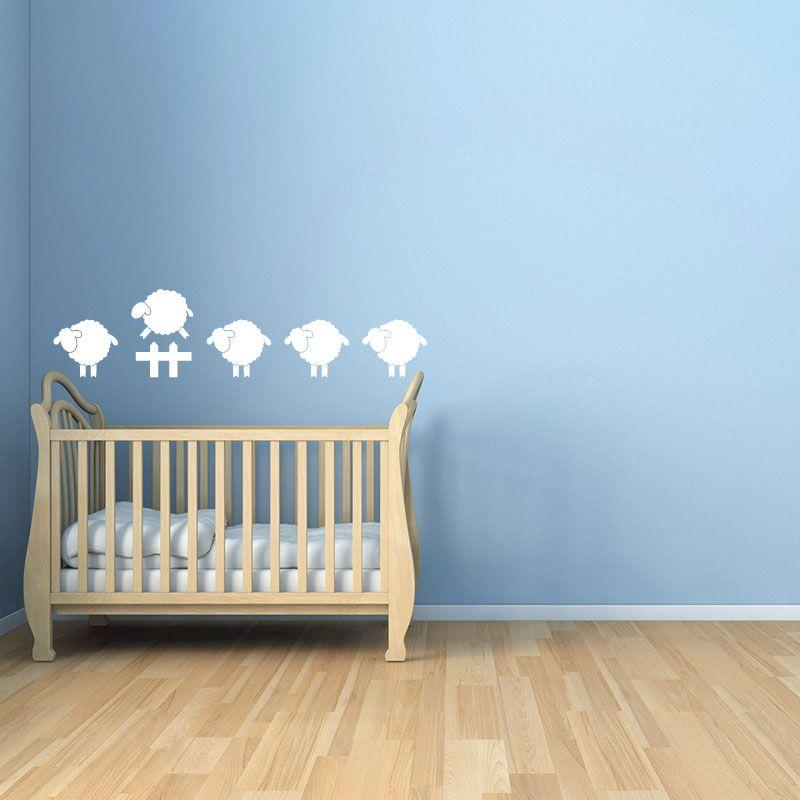 Sticker mural saute mouton d comotif - Stickers mouton chambre bebe ...