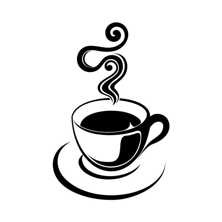 Dessin Tasse De Café Fumant sticker mural tasse de café > décomotif