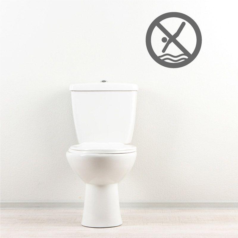 sticker mural interdiction de plonger d comotif. Black Bedroom Furniture Sets. Home Design Ideas