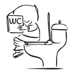 Dessin Wc stickers muraux amusants et humoristiques : citations, dessins