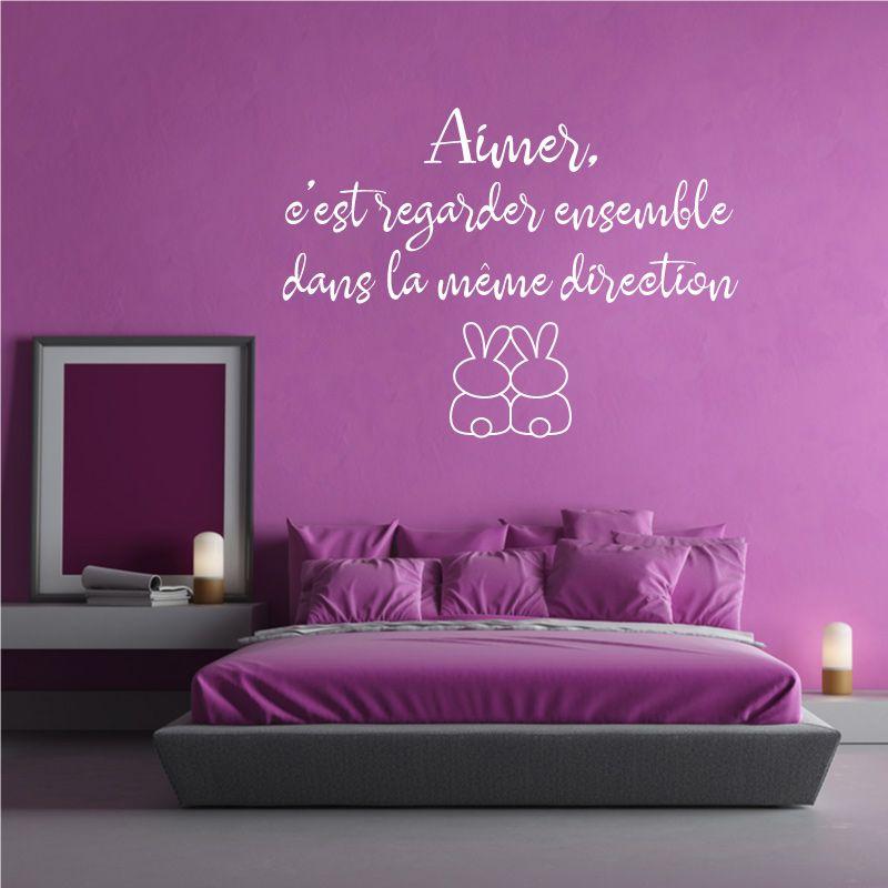 sticker mural aimer c 39 est regarder dans la m me direction d comotif. Black Bedroom Furniture Sets. Home Design Ideas