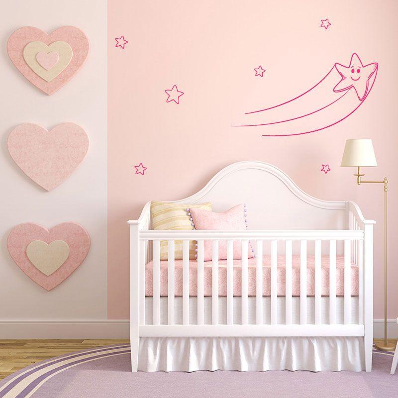 sticker mural toile filante souriante d comotif. Black Bedroom Furniture Sets. Home Design Ideas