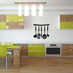 stickers muraux cuisine et frigo. Black Bedroom Furniture Sets. Home Design Ideas