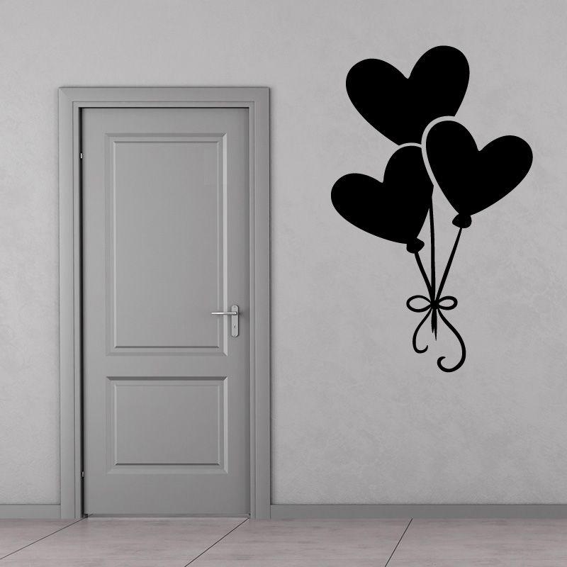 Sticker mural ballons en forme de coeur d comotif - Tete de lit en forme de coeur ...